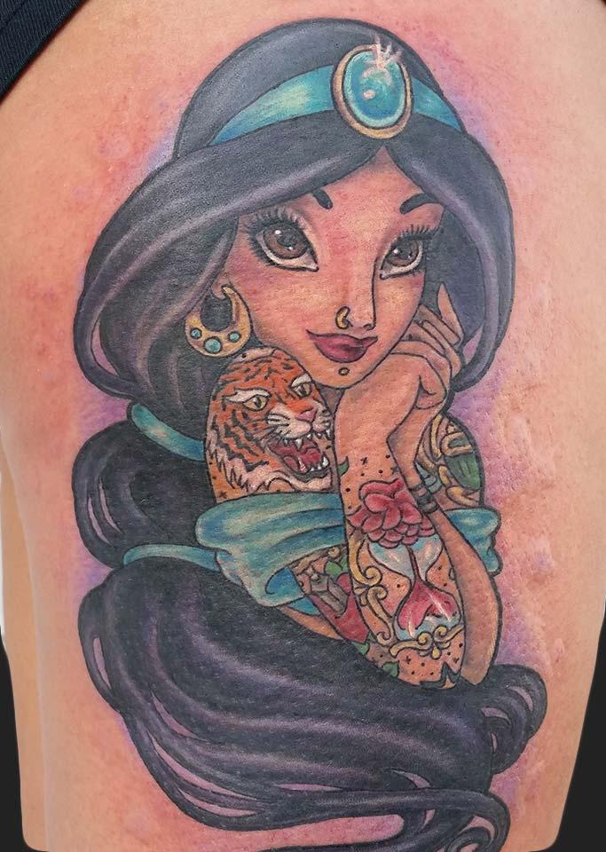 Kris phillippe tattoo artist neon dragon tattoo cedar for Aladin tattoo salon