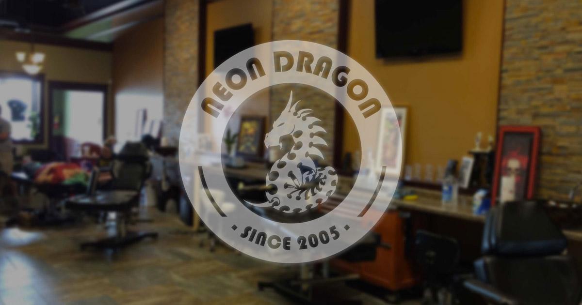 Neon Dragon Tattoo Tattoos And Body Piercing In Cedar
